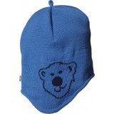 Isbjörn Knitted Cap Isbjörn Logo strikhue, Knitted Cap Isbjörn Logo strikhue, Brilliant Blue