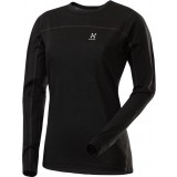 Haglöfs Actives Merino Q Roundneck undertrøje, Actives Merino Q Roundneck undertrøje, Black