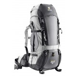 Deuter Aircontact 50+10 SL rygsæk, Aircontact 50+10 SL rygsæk, Anthracite/silver