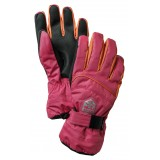 Hestra Primaloft JR handsker, Primaloft JR handsker, Fuchsia/Light Orange