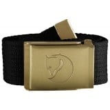 Fjällräven Canvas Brass Belt 4 cm bælte, Canvas Brass Belt 4 cm bælte, Black