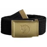 Fjällräven Canvas Brass Belt 3 cm bælte, Canvas Brass Belt 3 cm bælte, Black