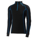 Helly Hansen HH Warm Freeze 1/2 Zip undertrøje, HH Warm Freeze 1/2 Zip undertrøje, 991 Black/Cobalt Blue