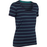 Icebreaker Tech SS Scoop Stripe T-shirt, Tech SS Scoop Stripe T-shirt, Admiral/Patina