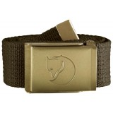Fjällräven Canvas Brass Belt 4 cm bælte, Canvas Brass Belt 4 cm bælte, Dark Olive