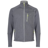 Me°ru' Cannes Fleece Men herrefleece, Cannes Fleece Men herrefleece, Grey Melange/Lemon