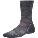 Smartwool PhD Outdoor Light Crew WMS vandresok, PhD Outdoor Light Crew WMS vandresok, Medium Gray/Desert Purple 489