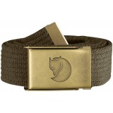 Fjällräven Canvas Brass Belt 3 cm bælte, Canvas Brass Belt 3 cm bælte, Dark Olive