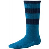 Smartwool Hike Light Crew Stripe Kids børnesokker, Hike Light Crew Stripe Kids børnesokker, Arctic Blue/Navy 033