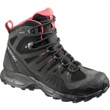 Salomon Conquest GTX W vandrestøvle, Conquest GTX W vandrestøvle, Black/Asphalt/Papaya