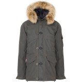 66°North Snæfell Down Parka with real fur, Snæfell Down Parka with real fur, 910 Charcoal