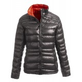 Yeti Desire Down Jacket damedunjakke, Desire Down Jacket damedunjakke, Dark Gull Grey/Mandarin Red