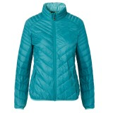 Me°ru' Gander II Down Jacket Women dunjakke, Gander II Down Jacket Women dunjakke, Emerald/Water Blue