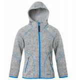 Me°ru' Malsjo Kids Fleece Hoody fleece, Malsjo Kids Fleece Hoody fleece, Grey Melange/Blue Aster
