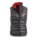 Yeti Caring Down Vest WMS dunvest, Caring Down Vest WMS dunvest, Dark Gull Grey/Mandarin Red