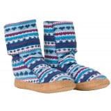 Me°ru' Norweger Fleece Slipper sutsko, Norweger Fleece Slipper sutsko, Blue/Red