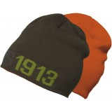 Didriksons Revert Beanie Junior strikhue, Revert Beanie Junior strikhue, Hot Orange/Green