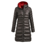 Yeti Faith Down Coat dunfrakke, Faith Down Coat dunfrakke, Dark Gull Grey/Mandarin Red