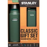 Stanley Classic Gift Set Bottle+Flask termoflaske+lommelærke, Classic Gift Set Bottle+Flask termoflaske+lommelærke, Green