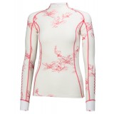 Helly Hansen HH Warm Freeze 1/2 Zip WMS undertrøje, HH Warm Freeze 1/2 Zip WMS undertrøje, 014 White/Pink Glow Print