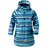 Didriksons Babu Printed Kid's Jacket regnjakke, Babu Printed Kid's Jacket regnjakke, Striped Breeze 096