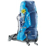 Deuter Aircontact Pro 65+15 SL rygsæk, Aircontact Pro 65+15 SL rygsæk, Midnight-turquoise