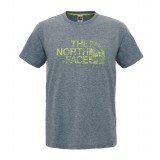 The North Face S/S Woodcut Dome Tee T-shirt, S/S Woodcut Dome Tee T-shirt, TNF Medium Grey Heather