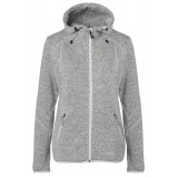 Me°ru' Namsos Knitted Fleece Hoody damefleece, Namsos Knitted Fleece Hoody damefleece, Grey Melange/Off White
