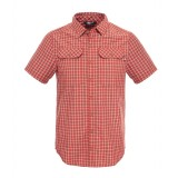 The North Face S/S Pine Knot Shirt herreskjorte, S/S Pine Knot Shirt herreskjorte, Pompeian Red Plaid