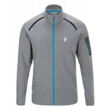 Peak Performance Pivot Zip herrefleece, Pivot Zip herrefleece, M08 Grey Mel/25L Mosaic Blue