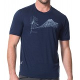 Icebreaker Tech Lite SS Crewe Cabbage Mtn. herre-T-shirt, Tech Lite SS Crewe Cabbage Mtn. herre-T-shirt, Admiral