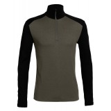 Icebreaker Tech Top LS Half Zip M undertrøje, Tech Top LS Half Zip M undertrøje, Monsoon/Black