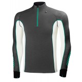 Helly Hansen HH Warm Freeze 1/2 Zip undertrøje, HH Warm Freeze 1/2 Zip undertrøje, 984 Ebony/Paris Green