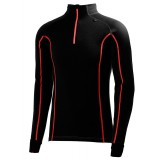 Helly Hansen HH Warm Freeze 1/2 Zip undertrøje, HH Warm Freeze 1/2 Zip undertrøje, 992 Black/Flag Red