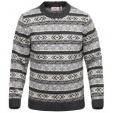 Fjällräven Övik Folk Knit Sweater striktrøje, Övik Folk Knit Sweater striktrøje, Dark Grey
