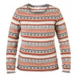 Fjällräven Övik Folk Knit Sweater WMS striktrøje, Övik Folk Knit Sweater WMS striktrøje, Fog