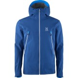 Haglöfs Gecko Hood Men softshell, Gecko Hood Men softshell, Hurricane Blue