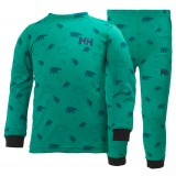 Helly Hansen HH Active Flow Set Kids børneundertøj, HH Active Flow Set Kids børneundertøj, 124 Bright Green Print
