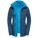 The North Face Evolve II Triclimate Jacket WMS vinterjakke, Evolve II Triclimate Jacket WMS vinterjakke, Shady Blue