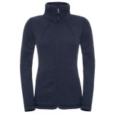 The North Face Crescent Full Zip WMS damefleece, Crescent Full Zip WMS damefleece, Cosmic Blue Heather