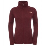 The North Face Crescent Full Zip WMS damefleece, Crescent Full Zip WMS damefleece, Deep Garnet Red Heather