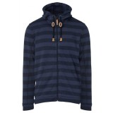 Me°ru' Traisen Knit Fleece Jacket Men herrefleece, Traisen Knit Fleece Jacket Men herrefleece, Blue Stripes