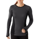 Smartwool Women's PhD Light Long Sleeve undertrøje, Women's PhD Light Long Sleeve undertrøje, Charcoal Heather 010