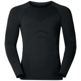 Odlo Shirt l/s Crew Neck EVOLUTION WARM undertrøje, Shirt l/s Crew Neck EVOLUTION WARM undertrøje, Black - Odlo Graphite Grey