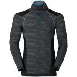 Odlo Shirt l/s with Facemask Blackcomb EVOLUTION Warm undertrøje, Shirt l/s with Facemask Blackcomb EVOLUTION Warm undertrøje, Odlo Concrete Grey - Black - B
