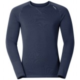Odlo Shirt l/s Crew Neck REV. TW WARM undertrøje, Shirt l/s Crew Neck REV. TW WARM undertrøje, Navy New Melange