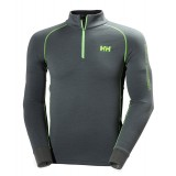 Helly Hansen HH Warm Flow High Neck 1/2 Zip undertrøje, HH Warm Flow High Neck 1/2 Zip undertrøje, 898 Rock