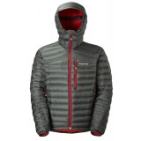 Montane Featherlite Down Jacket dunjakke, Featherlite Down Jacket dunjakke, Shadow/Alpine Red