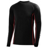 Helly Hansen HH Warm Ice Crew undertrøje, HH Warm Ice Crew undertrøje, 992 Black/Flag Red