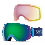 Smith I/OX Green Sol-X/Red Sensor skibriller, I/OX Green Sol-X/Red Sensor skibriller, Light Blue